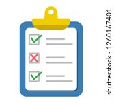 checklist icon. colored... | Shutterstock .eps vector #1260167401
