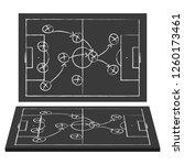 football field. blackboard.... | Shutterstock .eps vector #1260173461