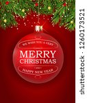 merry christmas and new year... | Shutterstock . vector #1260173521