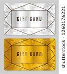 gold gift card design. discount ...   Shutterstock .eps vector #1260176221