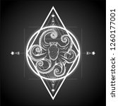 sacred geometry with hand drawn ... | Shutterstock .eps vector #1260177001