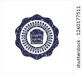 blue popcorn icon inside rubber ... | Shutterstock .eps vector #1260177511