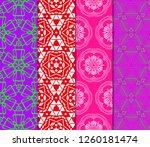 set of geometric modern... | Shutterstock .eps vector #1260181474