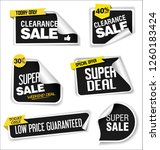 modern sale banners and labels... | Shutterstock .eps vector #1260183424
