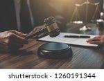 judge gavel with justice... | Shutterstock . vector #1260191344