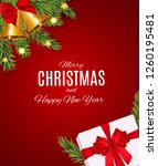 merry christmas and new year... | Shutterstock . vector #1260195481