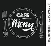 cafe menu sketch   Shutterstock .eps vector #1260196324