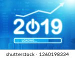 loading new year 2019. growth... | Shutterstock . vector #1260198334