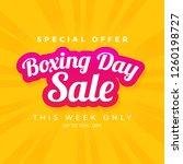 boxing day sale banner | Shutterstock .eps vector #1260198727