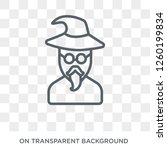 wizard icon. trendy flat vector ... | Shutterstock .eps vector #1260199834