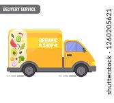 organic shop delivery concept.... | Shutterstock .eps vector #1260205621