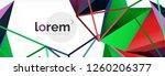 modern geometric background.... | Shutterstock .eps vector #1260206377