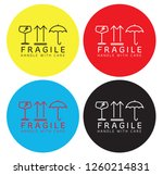 fragile handle with care... | Shutterstock .eps vector #1260214831