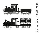 retro locomotive with cars on a ... | Shutterstock .eps vector #1260215251