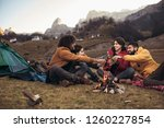 group of young people around... | Shutterstock . vector #1260227854