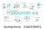 industry 4.0 background. flat... | Shutterstock .eps vector #1260228451