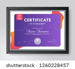 certificate and diploma... | Shutterstock .eps vector #1260228457