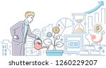 investments   modern line... | Shutterstock .eps vector #1260229207