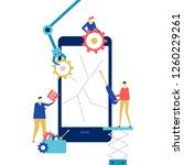 mobile repair service   flat... | Shutterstock .eps vector #1260229261