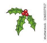 christmas berry icon vector... | Shutterstock .eps vector #1260237517