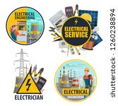 electricity and energy power... | Shutterstock .eps vector #1260238894