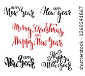 happy new year. hand drawn... | Shutterstock .eps vector #1260241867