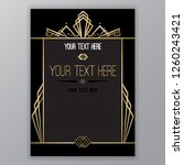 art deco page template  retro ... | Shutterstock .eps vector #1260243421