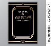 art deco page template  retro... | Shutterstock .eps vector #1260243427