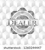 dealer grey emblem with cube... | Shutterstock .eps vector #1260244447