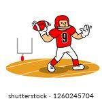 vector cartoon of american... | Shutterstock .eps vector #1260245704