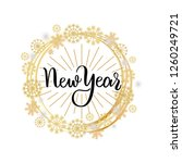 new year lettering hand drawn... | Shutterstock .eps vector #1260249721