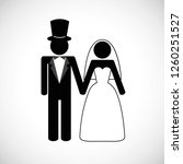 wedding couple man and woman... | Shutterstock .eps vector #1260251527