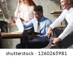work with documents and reports.... | Shutterstock . vector #1260265981