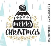 merry christmas. typography.... | Shutterstock .eps vector #1260266971