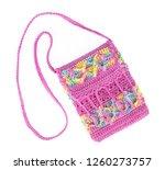 crochet knitting bag isolated... | Shutterstock . vector #1260273757