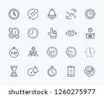 set of time vector line icons.... | Shutterstock .eps vector #1260275977