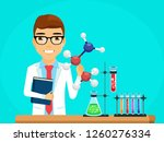 the concept of the scientist.... | Shutterstock .eps vector #1260276334