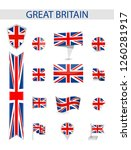 great britain flag collection.... | Shutterstock .eps vector #1260281917