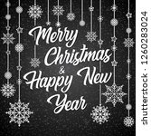 merry christmas and happy new... | Shutterstock .eps vector #1260283024