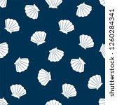 shell background. seamless... | Shutterstock .eps vector #1260284341