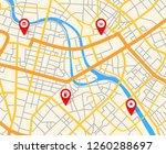 navigation european city map... | Shutterstock . vector #1260288697