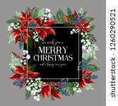 merry christmas greeting card... | Shutterstock .eps vector #1260290521