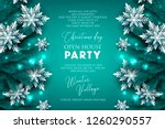 christmas party invitation... | Shutterstock .eps vector #1260290557