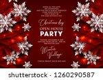 christmas party invitation...   Shutterstock .eps vector #1260290587