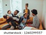 shot of a happy family spending ...   Shutterstock . vector #1260299557