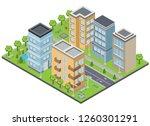 suburbia buildings composition... | Shutterstock .eps vector #1260301291