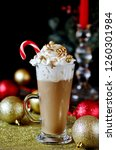 original new year's coffee with ... | Shutterstock . vector #1260301984