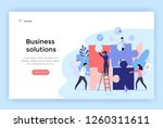 Stock vector business solution concept illustration perfect for web design banner mobile app landing page 1260311611