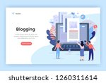 blogging concept illustration ... | Shutterstock .eps vector #1260311614