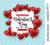 valentines day sale poster or... | Shutterstock .eps vector #1260317977